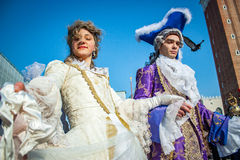 Traje do carnaval de Veneza fotografia de stock