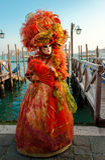 Traje do carnaval de Veneza Imagens de Stock Royalty Free