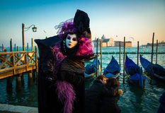 Traje do carnaval de Veneza foto de stock