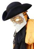 Traje do carnaval de Veneza de um nobre ancientVenetian Fotos de Stock Royalty Free
