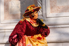 Traje e máscara do carnaval de Veneza Fotografia de Stock