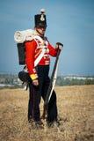 Traje histórico del ejército británico Imagenes de archivo