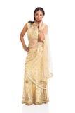 Traje indio de la sari Imagenes de archivo