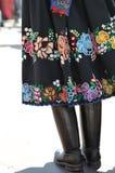 Traje popular decorado da saia, Fotos de Stock