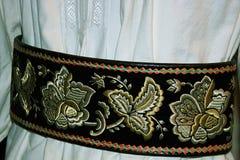 Traje popular rumano tradicional Detalle 11 imagen de archivo libre de regalías