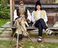 Traje rumano tradicional Fotos de archivo libres de regalías