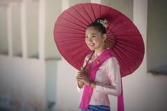 Traje tailandês das mulheres Foto de Stock Royalty Free