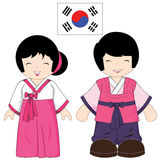 Traje tradicional de Coreia do Sul Imagem de Stock Royalty Free