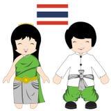 Traje tradicional tailandês Imagem de Stock Royalty Free