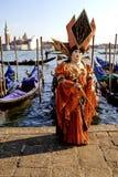 Traje Venecia del carnaval Foto de archivo libre de regalías