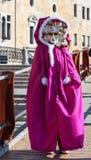 Traje veneciano Imágenes de archivo libres de regalías