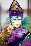 Traje Venetian colorido Fotografia de Stock Royalty Free