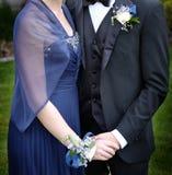 Traje y vestido formales del ramillete de la danza del baile de fin de curso fotos de archivo
