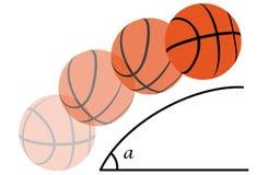Trajectoire d'un basket-ball Image stock