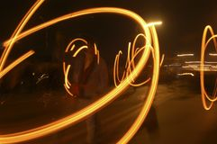 Trajectory rotating lights Royalty Free Stock Photos