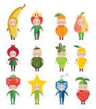 Trajes arnival do ¡ de Ð dos frutos e das bagas ilustração royalty free