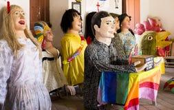 Trajes brasileños del carnaval Foto de archivo libre de regalías