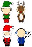 Trajes de la Navidad stock de ilustración