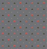 Trajes de la tarjeta en el oro Rim Seamless Pattern Imagen de archivo
