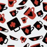 Trajes de las tarjetas de las tazas Foto de archivo