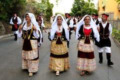 Trajes de Sardinia Imagens de Stock Royalty Free