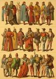 Trajes del italiano del siglo XV Fotografía de archivo libre de regalías