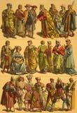 Trajes dos Países Baixos do século XVI Fotos de Stock Royalty Free