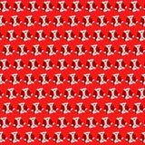 Trajes pequenos do terno dos revestimentos de Santa Claus Saint Nicholas do fundo do Natal os mini colocam horizontalmente isolad ilustração stock