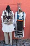 Trajes populares tradicionales rumanos Fotos de archivo libres de regalías