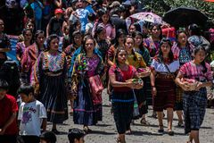 trajes típicos da Guatemala foto de stock royalty free