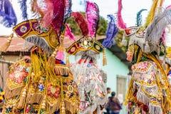 Trajes tradicionais do dançarino popular, Guatemala Fotografia de Stock Royalty Free