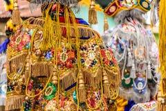 Trajes tradicionais do dançarino popular, Guatemala Foto de Stock
