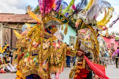Trajes tradicionais do dançarino popular, Guatemala Foto de Stock Royalty Free