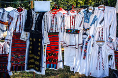 Trajes tradicionais romenos Foto de Stock Royalty Free