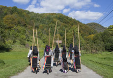 Trajes tradicionais romenos Fotos de Stock Royalty Free