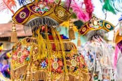 Trajes tradicionales del bailarín popular, Guatemala Foto de archivo libre de regalías