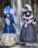 Trajes venecianos Fotografía de archivo libre de regalías