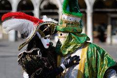 Trajes Venetian do carnaval Foto de Stock