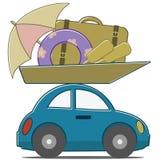 Trajet en voiture Image libre de droits