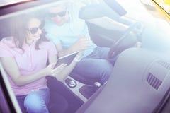 Trajet en voiture photo libre de droits