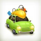 Trajet en voiture, icône Images libres de droits