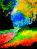 Trajeto à floresta Fotografia de Stock
