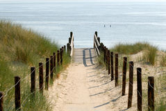 Trajeto à praia Foto de Stock