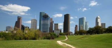Trajeto à skyline da cidade Foto de Stock Royalty Free