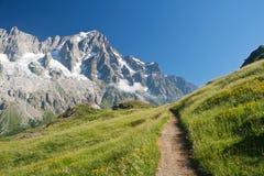 Trajeto alpino fotografia de stock