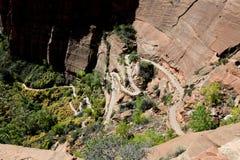 Trajeto, anjos que aterram a fuga no parque nacional de Zion Fotografia de Stock Royalty Free