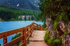 Trajeto ao lago Fotografia de Stock Royalty Free