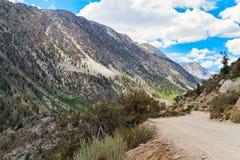 Trajeto ao longo da montanha Foto de Stock Royalty Free