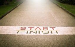 Trajeto ao sucesso e ao futuro, trajeto ao sucesso e a estrada futura Fotografia de Stock Royalty Free