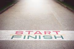 Trajeto ao sucesso e ao futuro, trajeto ao sucesso e a estrada futura Imagem de Stock